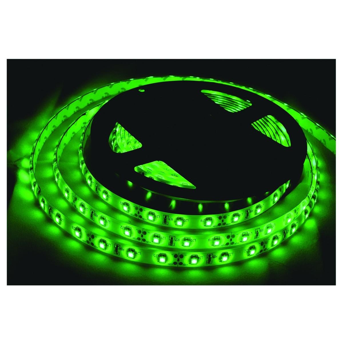 LR Technology LED Tape Light Kit 5M, Green at Gear4music.com