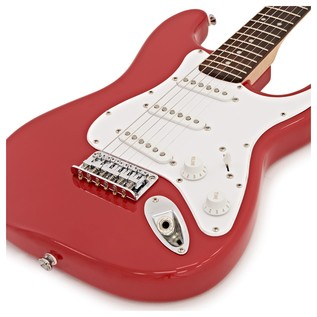 Squier By Fender Mini Stratocaster 3/4 Size Electric Guitar, Red