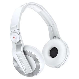 Pioneer HDJ 500 DJ Headphones, White - Angled