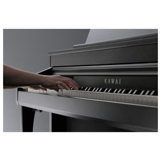 Kawai Concert Artist CA97 Digital Piano, Black Side View