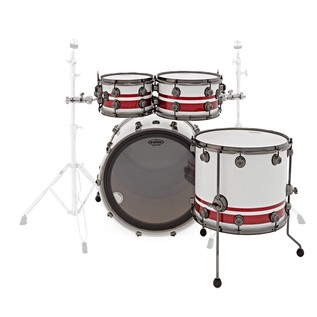 Natal Originals Birch 4pc Shell Pack, White Sparkle