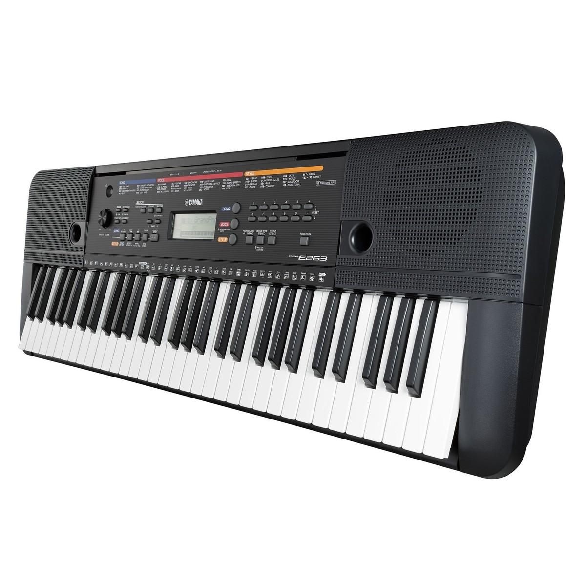 yamaha psr e263 portable keyboard black at. Black Bedroom Furniture Sets. Home Design Ideas