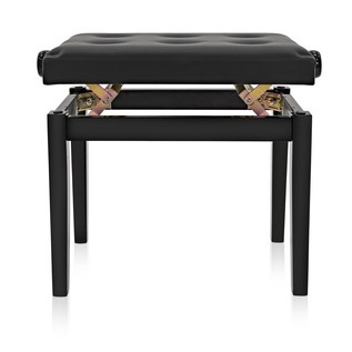 Deluxe Piano Stool by Gear4music, Gloss Black