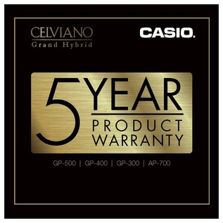 Casio Celviano AP700 5 Year Warranty