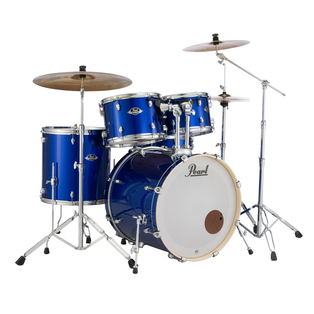 pearl export exx 22 rock drum kit high voltage blue at. Black Bedroom Furniture Sets. Home Design Ideas