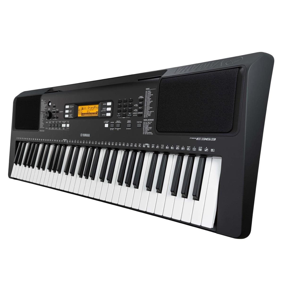 yamaha psr e363 portable keyboard at. Black Bedroom Furniture Sets. Home Design Ideas