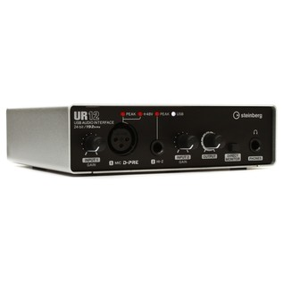 Steinberg UR-12 USB Audio Interface - Angled