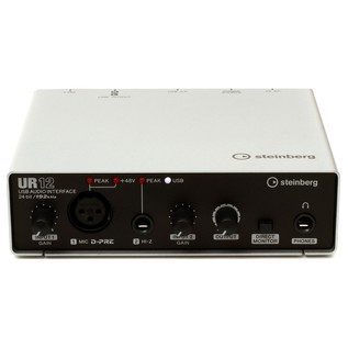 Steinberg UR-12 USB Audio Interface (iOS Ready) - Front Top