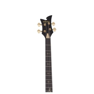 Johnny Christ Left Handed Bass Guitar, Satin Black