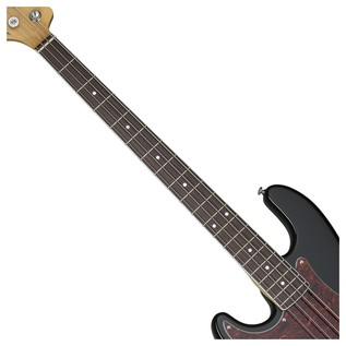 Diamond-P Plus Left Handed Bass Guitar, Gloss Black
