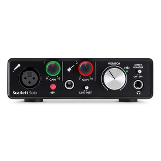 Focusrite Scarlett Solo (2nd Gen) - Front Panel