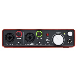 Focusrite Scarlett Studio Recording Package - Interface Front