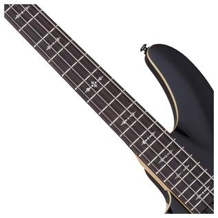 Left Handed Schecter Omen-4 Bass Guitar, Black