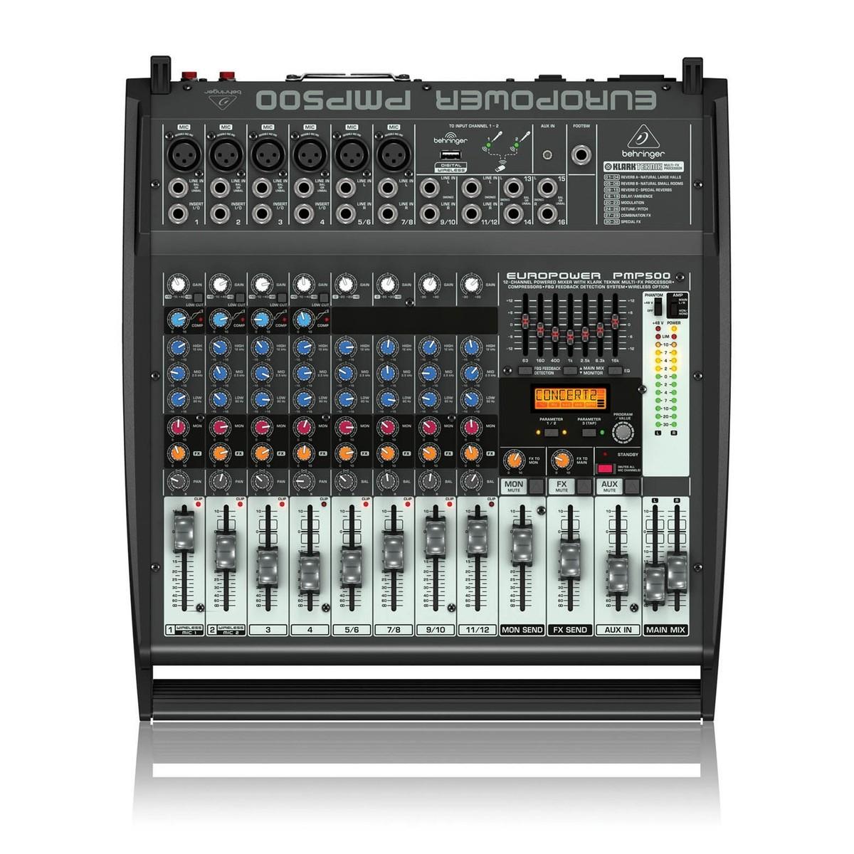 behringer amplificateur table de mixage europower pmp500. Black Bedroom Furniture Sets. Home Design Ideas