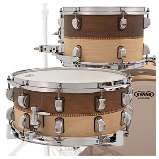 Liberty Drums 5pc Fusion Series Drum Kit, Whiskey & Natural Box Inlay