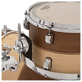 Liberty Drums 5pc Fusion Series Drum Kit, Whiskey & Natural Box Inlay