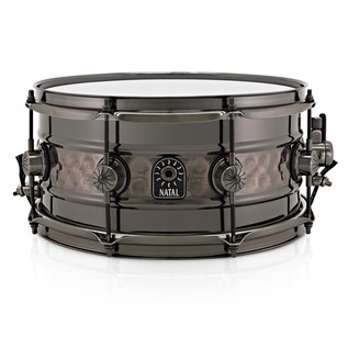 Natal 'Meta Series' Beaded Steel Center Hammered 13x6.5 Snare Drum