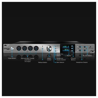 Antelope Audio Orion Studio Audio Interface - Front Annotated