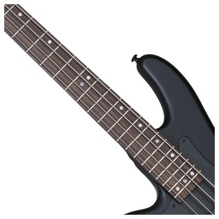Stiletto Stealth-4 Left Handed Bass Guitar, Satin Black