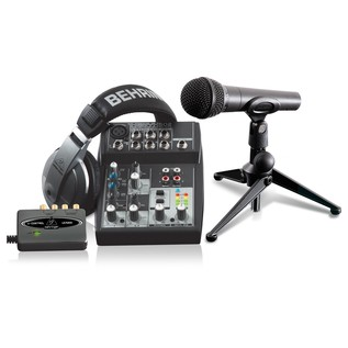 Behringer Podcastudio USB Recording Bundle