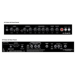 Blackstar HT Club 40 Valve Combo Amp Panels