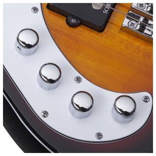 Schecter Stiletto Vintage-4 Left Handed Bass, Sunburst