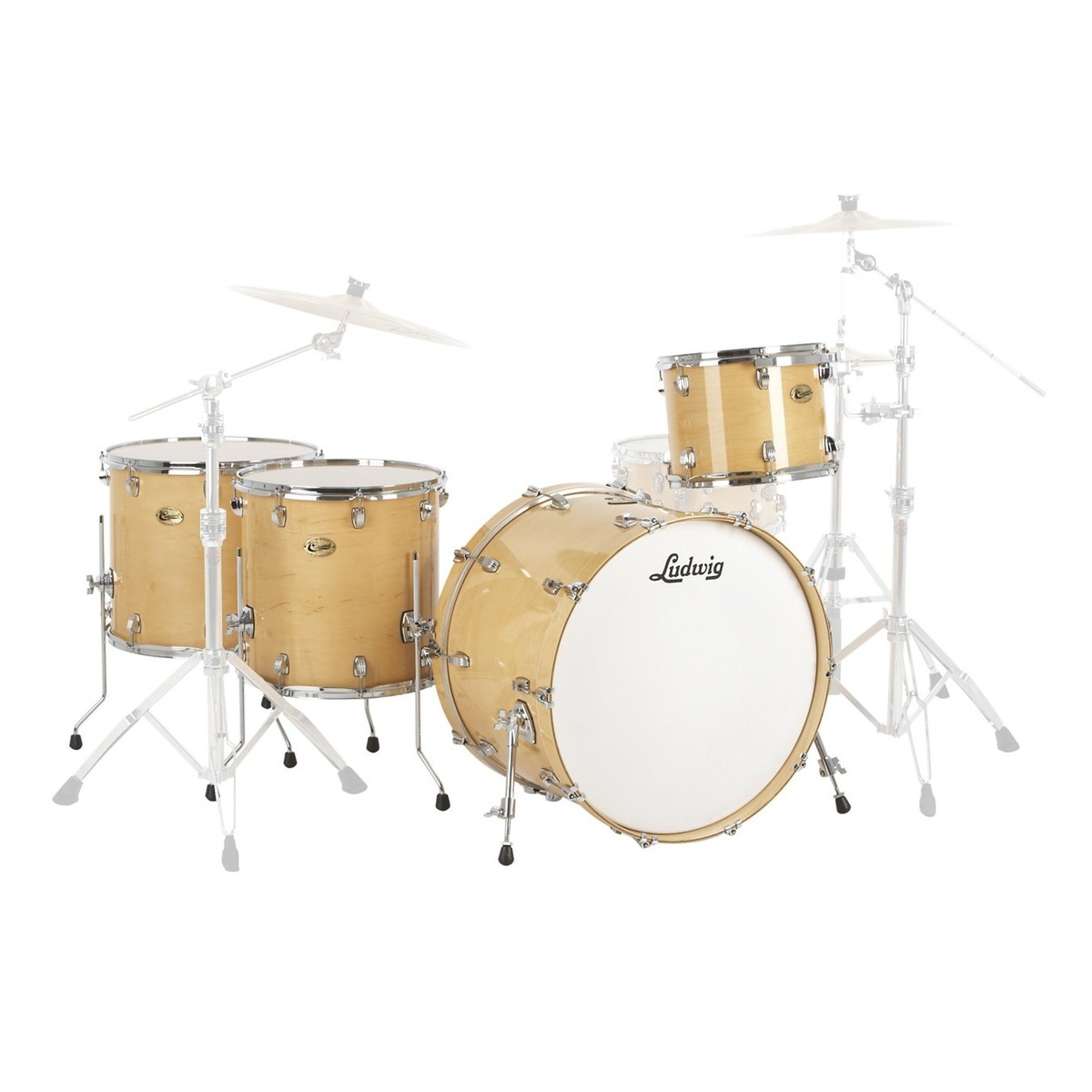 "Ludwig Centennial Moto 24"" 4pc Shell Pack Natural Maple"