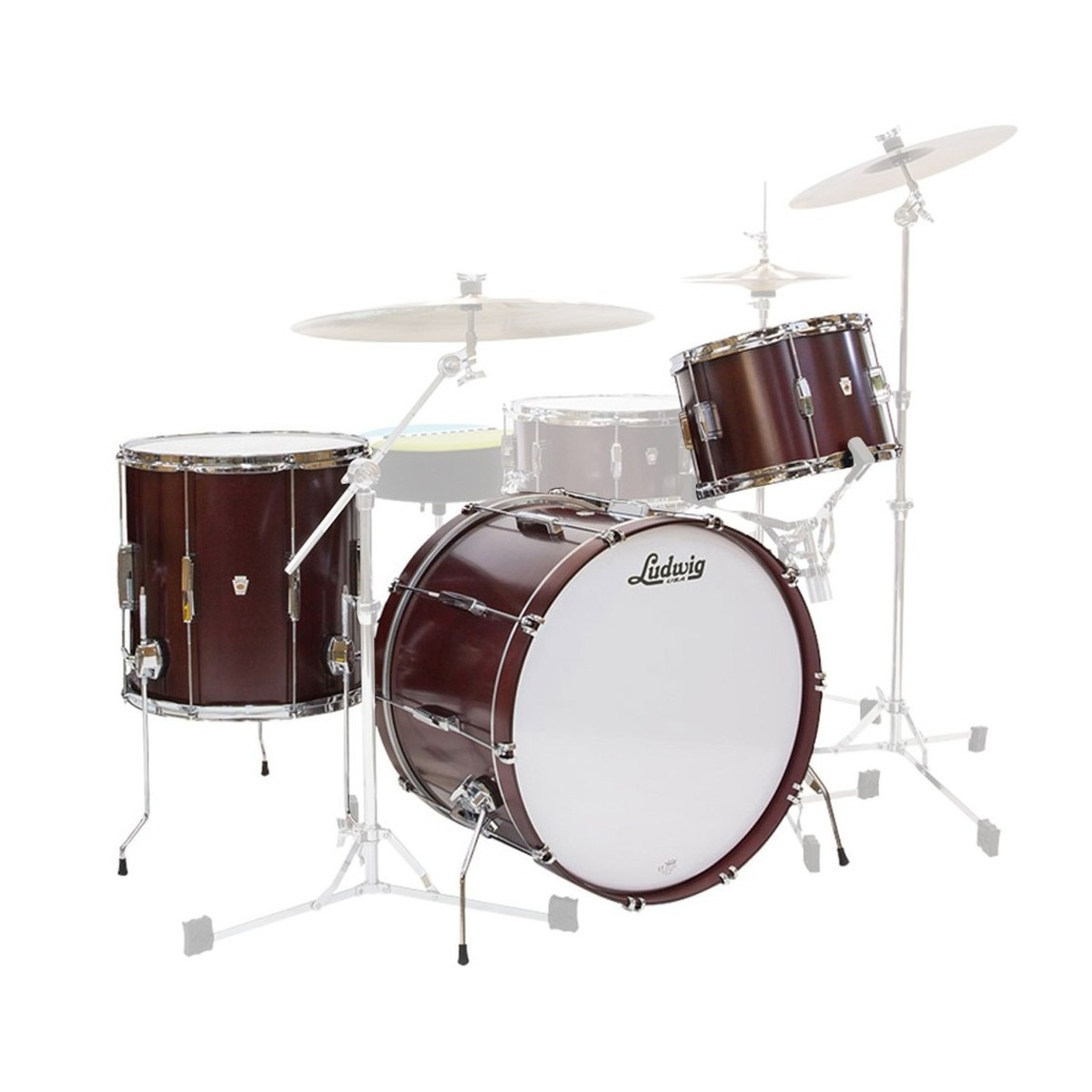 "Ludwig Club Date Pro Beat 24"" 3pc Shell Pack Cherry Satin"