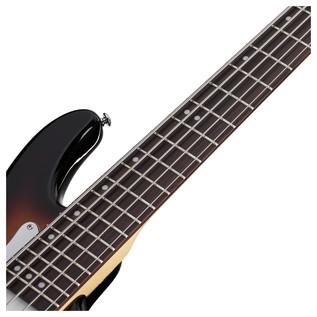 Stiletto Vintage-5 Bass Guitar, 3-Tone Sunburst