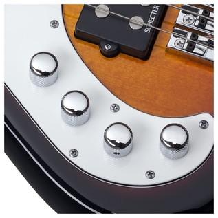 Left Handed Schecter Stiletto Vintage-5 Bass,3-Tone Sunburst