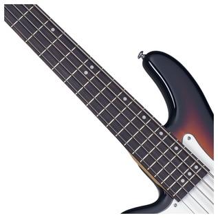 Stiletto Vintage-5 Left Handed Bass Guitar,3-Tone Sunburst