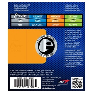 Elixir E12002 Nanoweb Super Light Strings