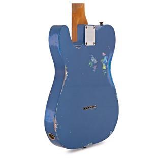 Fender Custom Shop LTD HS Tele, Aged LP Blue over Blue Flower