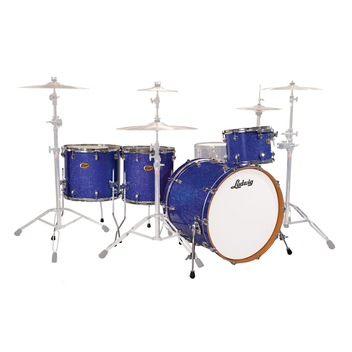 "Ludwig Centennial Dragster 22"" 4pc Shell Pack Blue Sparkle"
