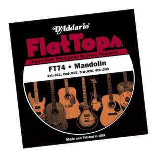 D'Addario FT74 Flat Tops Phosphor Bronze 11-39 Mandolin Strings