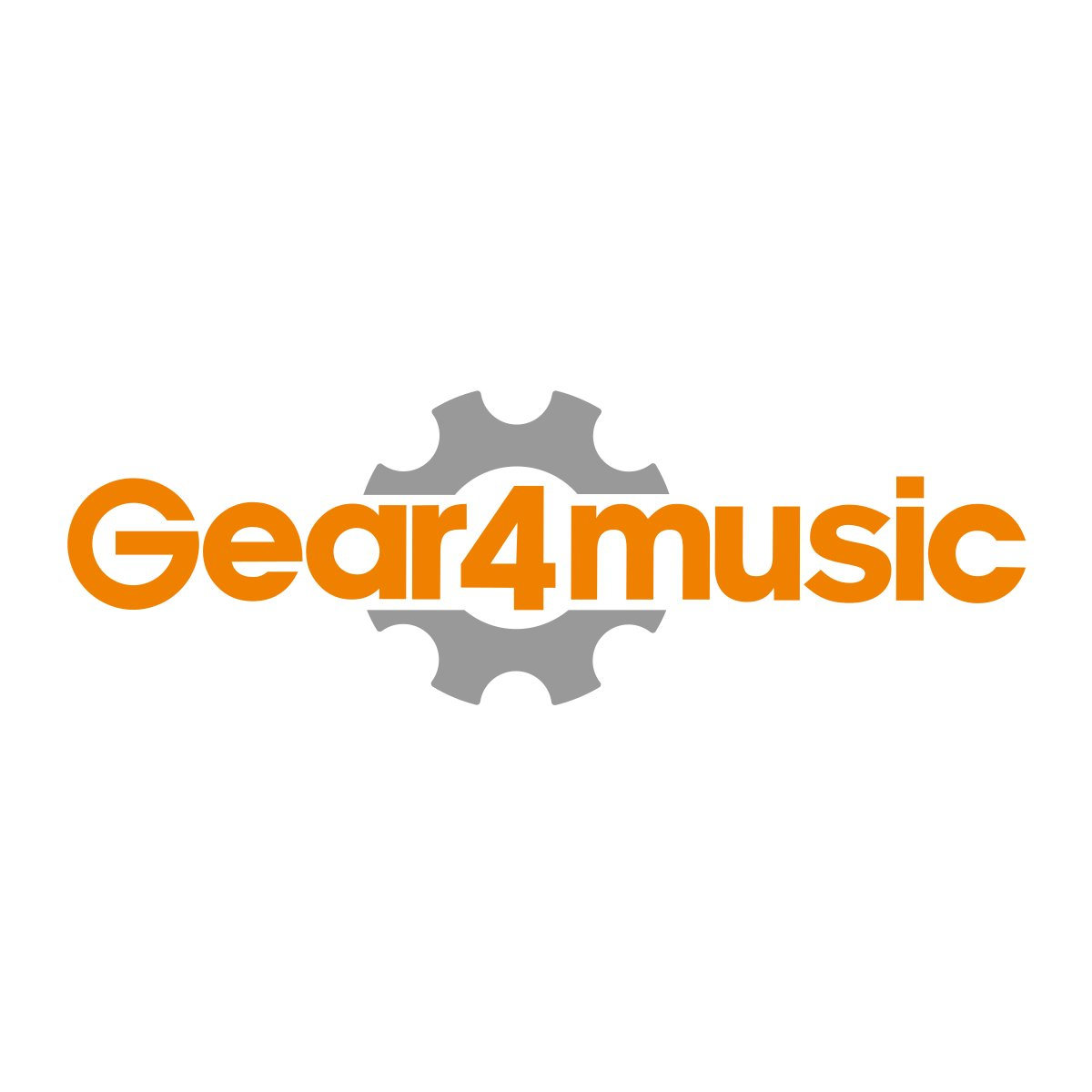 D-Shaped Tambourine by Gear4music Red