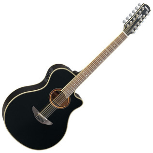Yamaha APX700II 12 String Electro Acoustic Guitar, Black