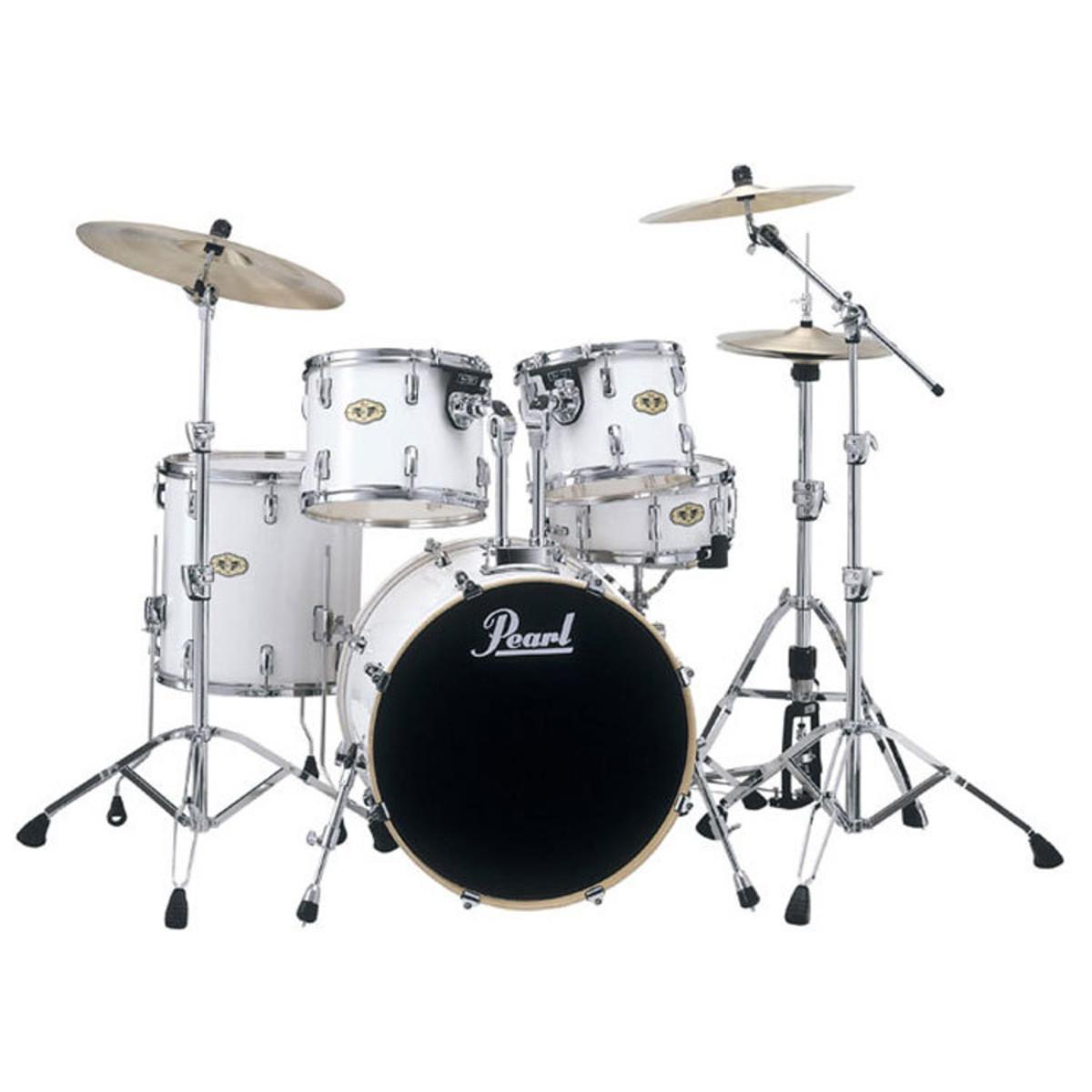 pearl vision vml maple rock drum kit hardware glacier white at. Black Bedroom Furniture Sets. Home Design Ideas