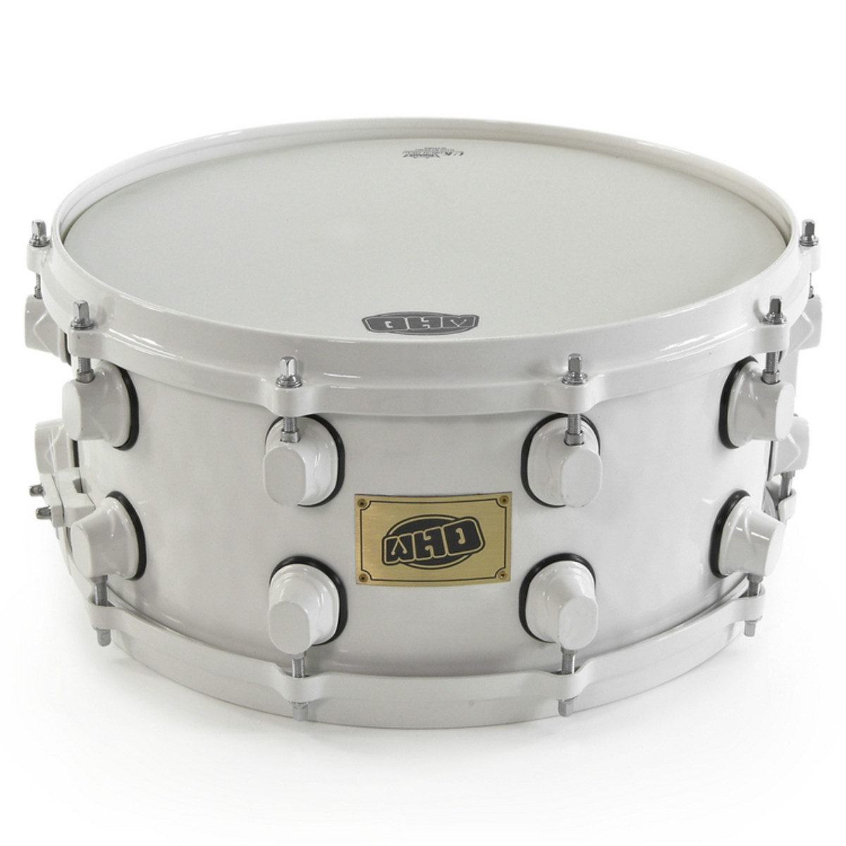 "Image of WHD 14 x 6.5"" Steel Snare White"""