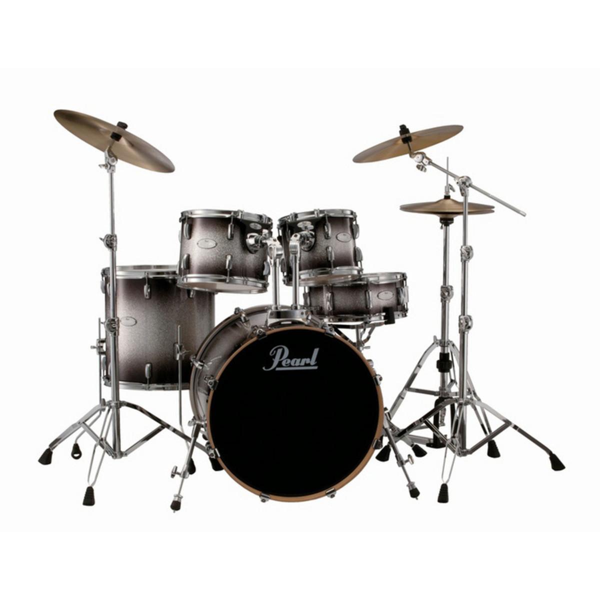 pearl vision vml maple rock drum kit hardware black silver burst at. Black Bedroom Furniture Sets. Home Design Ideas
