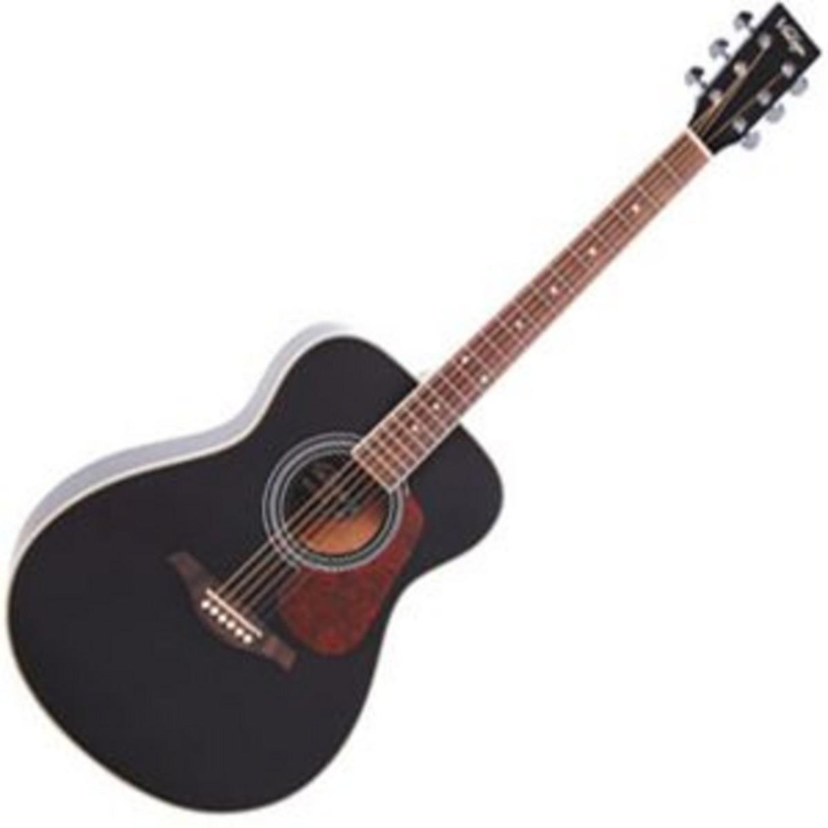vintage ve300 electro acoustic guitar black at. Black Bedroom Furniture Sets. Home Design Ideas