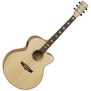 Tanglewood Exotic Super Jumbo Cutaway, Flamed Maple