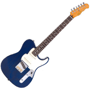 Fret King Blue Label Country Squire Super S, Trans Blue