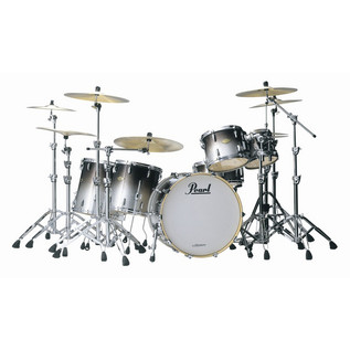 Pearl MCX Masters Custom Fusion Drum Kit in Black Sparkle Fade