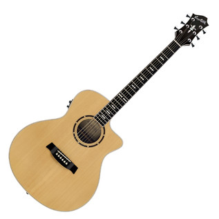 Hagstrom Siljan Grand Auditorium CE Acoustic Guitar, Natural