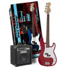 Squier by Fender Affinity P-Bass & Rumble 15 Amp - Metallic Red