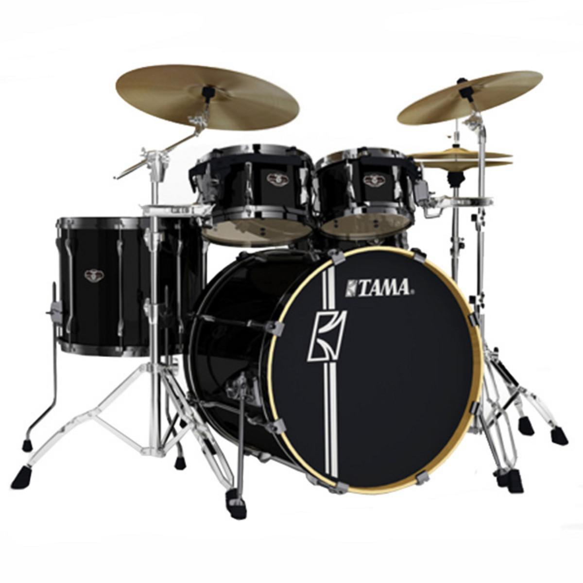 tama superstar hyper drive 22 39 39 5 piece drum kit black at. Black Bedroom Furniture Sets. Home Design Ideas