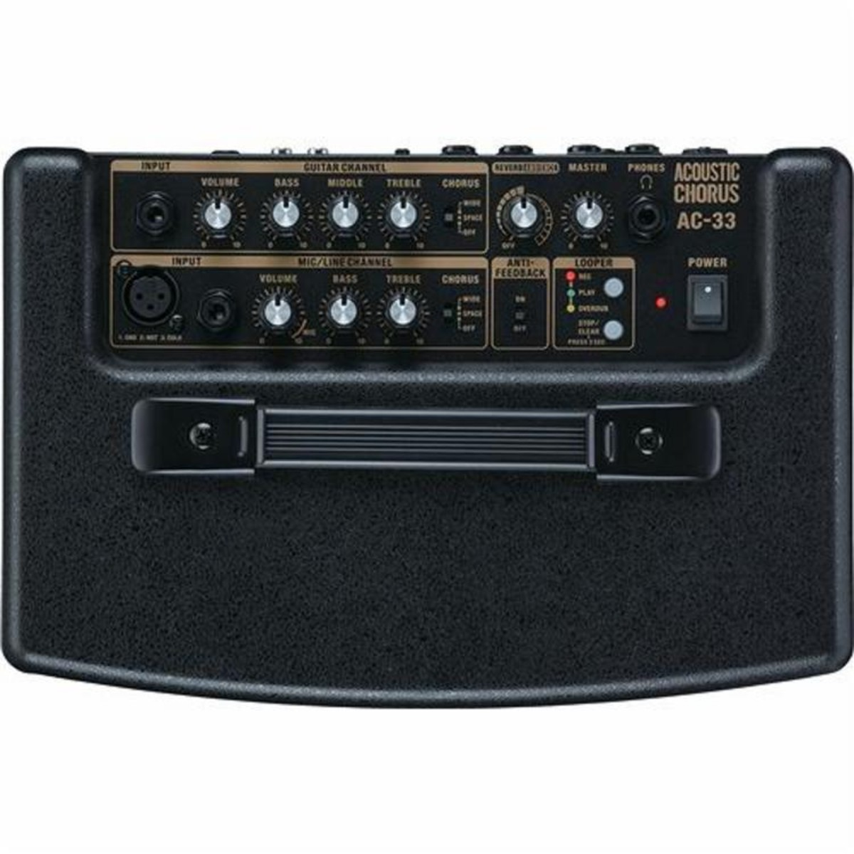 roland ac 33 portable acoustic guitar amplifier nearly new at. Black Bedroom Furniture Sets. Home Design Ideas