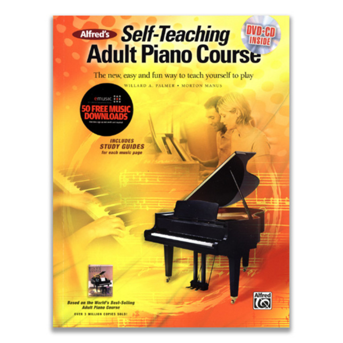 Image of Self-Teaching Adult Piano Course Book & DVD