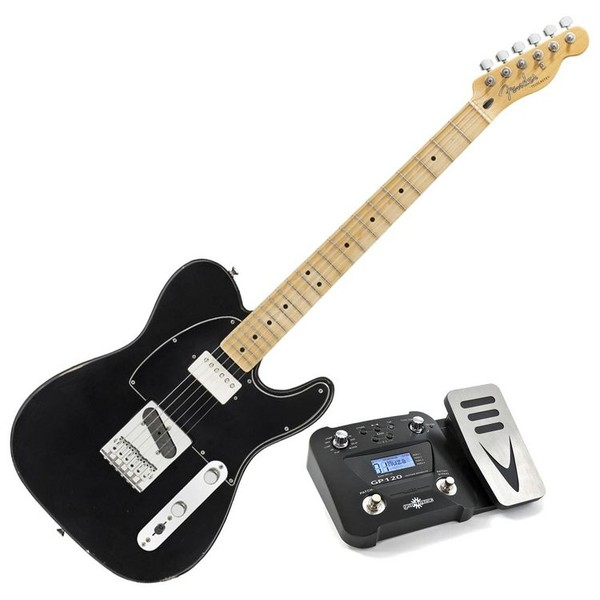 Fender Road Worn Player Telecaster, Maple FB, Black, Pedal Pack - main